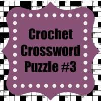 Crochet Crossword Puzzle #3