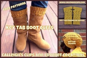 Key Tab Boot Cuffs by Calleigh's Clips & Crochet Creations