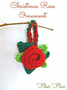 Christmas Rose Ornament by Fiber Flux