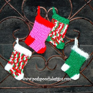 Mini Christmas Stockings by Posh Pooch Designs