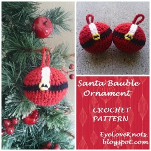 Santa Bauble Ornament by EyeLoveKnots