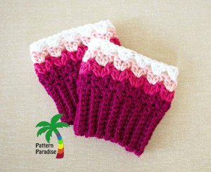 Sweetheart Boot Cuffs by Pattern Paradise