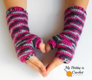 Bella Bricks Fingerless Mitts by My Hobby is Crochet