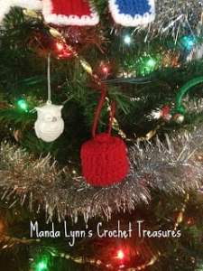 Fez Ornament by MandaLynn's Crochet Treasures