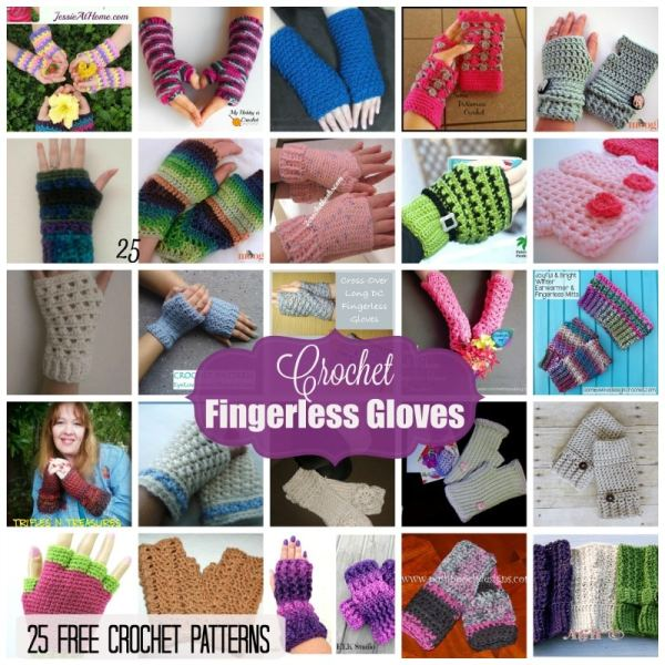 Fingerless Gloves 25 Free Crochet Patterns Rhelenas Crochet Blog