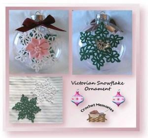 Victorian Snowflake Ornament by Crochet Memories