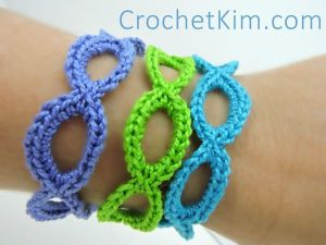 Stretchy Bracelets by Crochet Kim