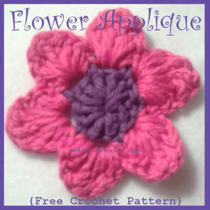 Flower Applique by Oui Crochet