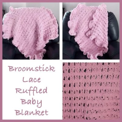 Broomstick Lace Baby Blanket ~ FREE Crochet Pattern