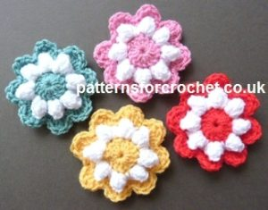 Popcorn Flower Motif by Patterns For Crochet