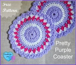 Pretty Crochet Coaster by Crochet For You