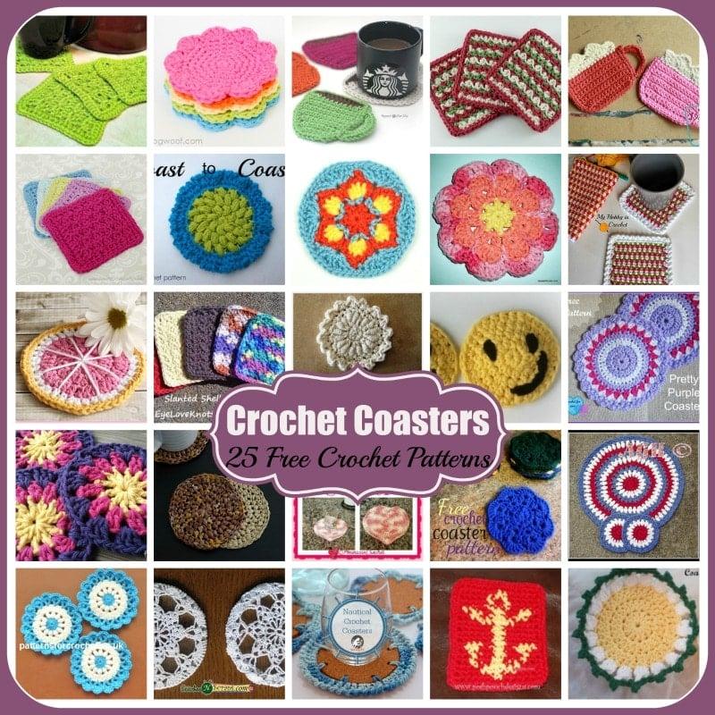Crochet Coasters 25 Free Crochet Patterns Rhelenas Crochet Blog
