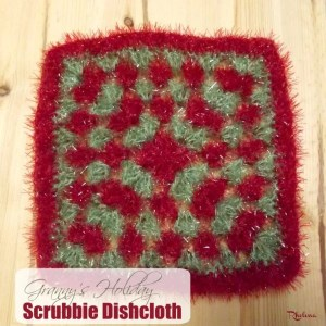 Granny's Holiday Scrubby Dishcloth by CrochetN'Crafts