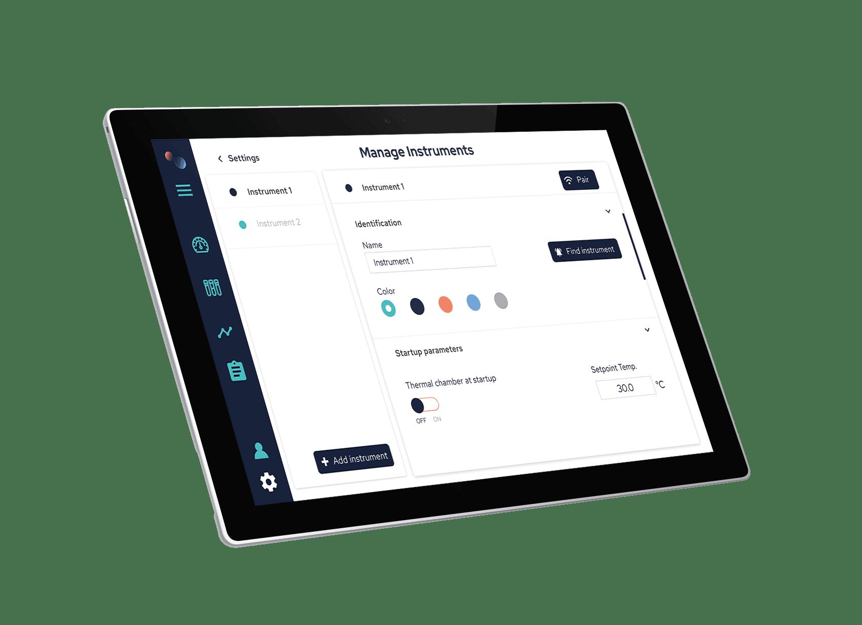 ElastoSens Bio's tablet App
