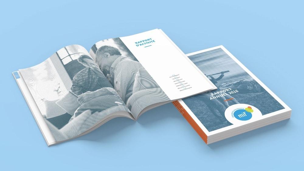 Le rapport annuel 2016 de la MIF, entièrement conçu par Rhetorike.