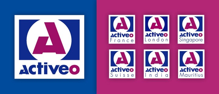 Le logo d'Activeo a été décliné pour l'ensemble des filiales à travers le monde.