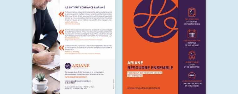 Ariane a confié à l'agence de communication Rhetorike la conception et la réalisation de sa plaquette.
