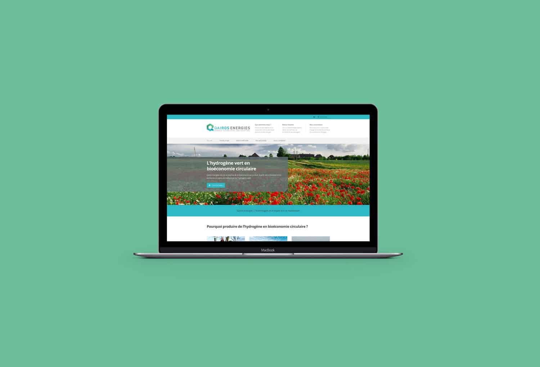 De sa mise en page, en passant par la recherche de visuels et la rédaction de ses contenus, nous avons entièrement façonné le site de Qairos Energies.