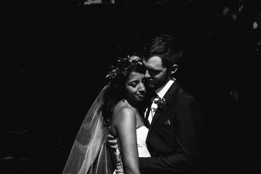 A black & white wedding portrait photo taken by Rhianna May Destination Wedding Photographer in Subiaco, Western Australia.