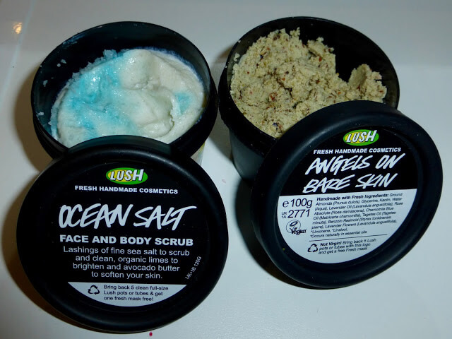lush cleanser and face scrub