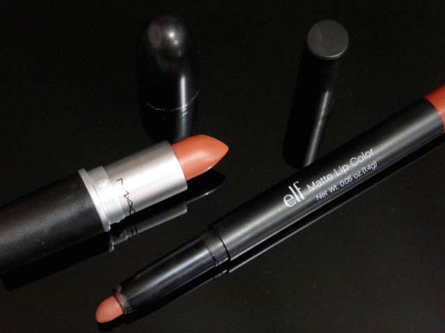 mac and elf lipstick