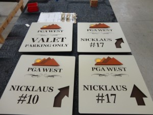 Some golf course directional signs for PGA West.