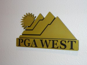 PGA West Podium Logo Signs