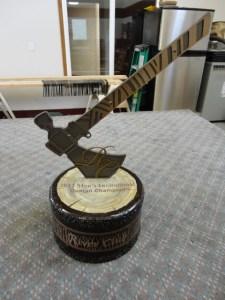 Trophy Detail, solid steel, handpainted.