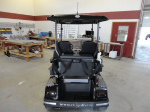 Your cart can be a great advertiser on the course.