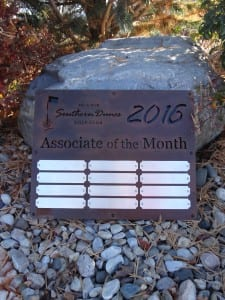 Associate of the Month Plaque -Southern Dunes