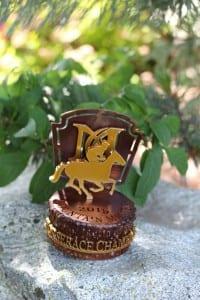 Golf Horserace trophy -Martis Camp