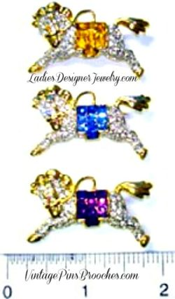 ccc096d3fa0 Vintage Horse With Western Saddle Pin Racing Brooch Ladies Designer Jewelry,  Choose Sapphire Citrine Or
