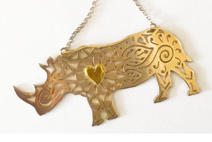 Rhino Necklace, World Rhino Day