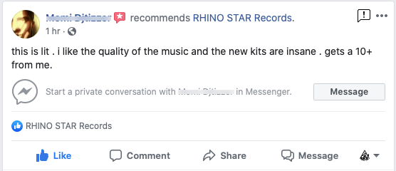 Social Proof recommendation of rhino star music sample packs and construction kits of dance music.