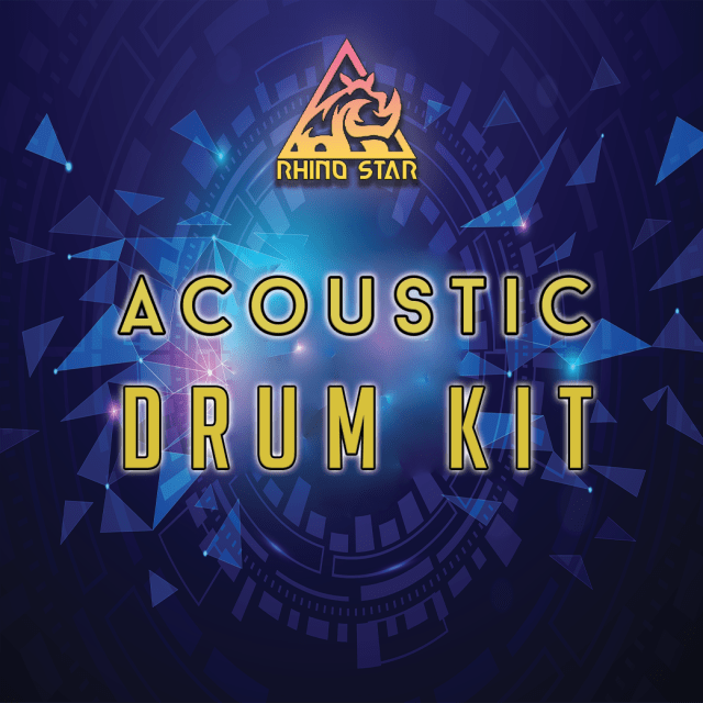 Free acoustic drum kit sample pack download with real drums by Rhino Star Music
