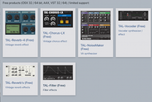 TAL Softare, Free VST Synths and Plugins