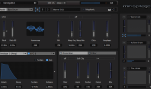 MiniSpillage free Compact Drum Synthesizer VST Plugin
