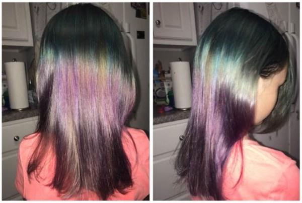 blue and purple hair dye