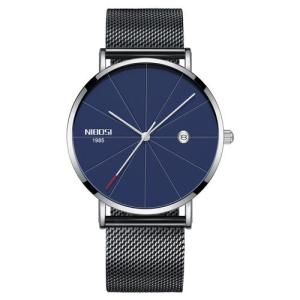 Black Blue NIBOSI Gorilla Glass Universal Watch - RHIZMALL.PK Online Shopping Store.