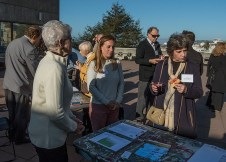 Past presidents Emily Harrold and Judy Junghans with Jan Blum of Francisco Park Conservancy at pre-meeting Reception