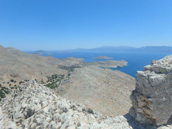 Vue depuis la forteresse de Halki