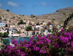 Village d'Emborio à Halki