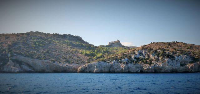 Château de Kritinia vue depuis la mer