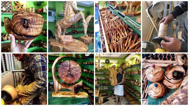 Souvenirs en bois d'olivier