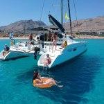 Sortie catamaran lindos