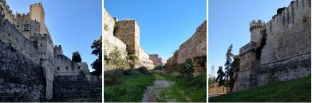tour des remparts de la ville de Rhodes