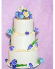 Wedding Buttercream Tulips and Hydrangeas