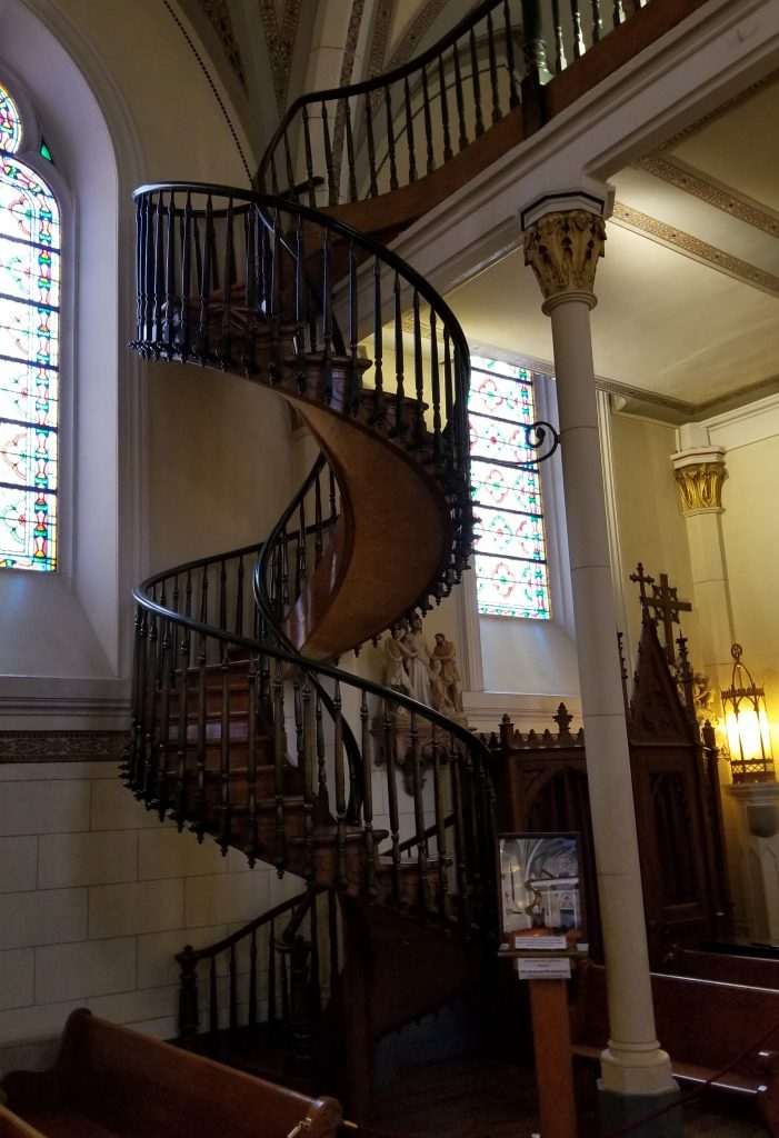 The Miraculous Staircase   Loretto Chapel Staircase Wood   Free Standing   St Joseph   Nm Church Santa Fe   Light   Sister