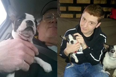 Win with his new family Loyd & Grandson Drew Frisbie, Vestaburg, MI