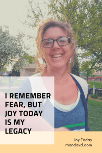 Eating disorder is fear, God is joy.